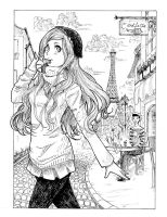 On the Streets of Paris by C--O--R--A