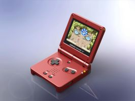 1:5 Scale Nintendo Game Boy Advance SP by DrOctoroc