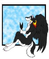 Crow Feathers by Wolfbird