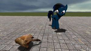 Blue and the Crab by ScottWolf