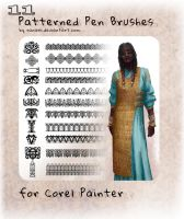 11 patterned brushes for Painter by Ranarh