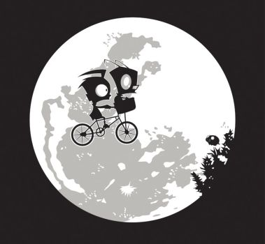 Dib and the E.T T-shirt Design by alsnow