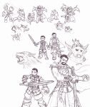 Random Dawnguard sketches by Cerberus123