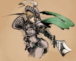 Paintchat - Knight Girl by MarvelousCoconuts