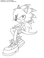 Omega the Hedgehog by Anakonda1331