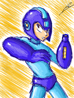 Megaman in muro by borockman