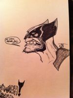 late night Wolvie Doodle by ComicBookGoth