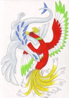 Lugia and Ho-oh by Mewstor