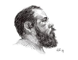 Pen and Ink Self Portrait in Sketchbook Pro by grobles63