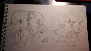 again destiel scribbles cant stop destiel feels by Shinigamii93