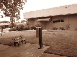 21st Century Sepia: Bench by cillanoodle