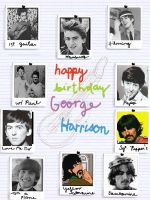 Happy Birthday George Harrison by chikaichix