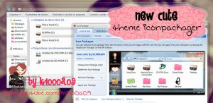 new cute theme iconpackager by k1000a09 by k1000adesign
