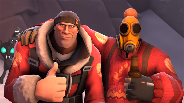 [SFM] Soldier and Pyro by Raptor3595