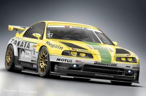 Honda Prelude Super GT by dr-phoenix