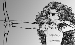 Disney: Merida from Brave sketch by kimberly-castello