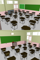MMD - Classroom Stage DOWNLOAD by Lunassis
