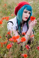 poppy field by VixensPrettyCorpse