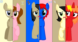 My Mane Six by QueenMelody22