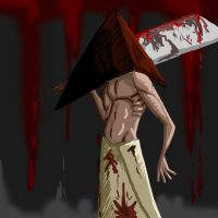 Pyramid Head Doodle by CurseReaper