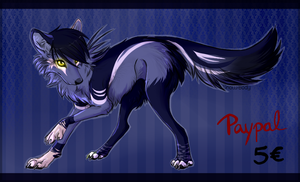 CLOSED - 5 EURO Paypal Wolf Adopt 17 by YumiAdopts