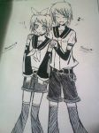 Prussia and Romania  as L n R Kagamine by john-e-strider