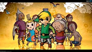Wind Waker HD (Friends) - Wide by AleNintendo