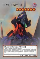 Yugioh! Orica: Eva Unit 01 Monster Card by animereviewguy