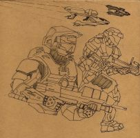 Spartan Sketch by dwarfguy