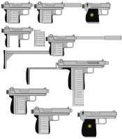 Cobra Pistol and Derivatives by fatty119