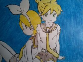 Rin and Len by Bloodykathychan