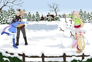 Snow Fight .:contest entry:. by Enbi-to-Miruku