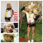 Cosplay Improvement 2011 - 2015 Kagamine Rin by HiThereSmiley