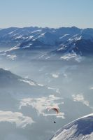 Lonesome Paraglider by MadMoonInc