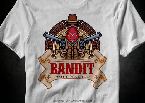 Bandit T-Shirt by TrexycaArtworks