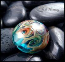 Caribbean Dreams Lampwork Glass Bead by andromeda