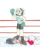 Boxing Gwen vs Heather by Jose-Ramiro