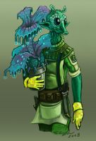Nervous Rodian Botanist by StuCunningham