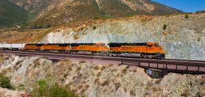 BNSF 7220 Bluecut by photogatlarge