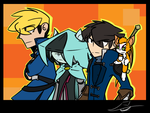 Team A -Colored style- by castle-crasher