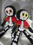 Day of the Dead Skeleton  Buddies. by dollmaker88