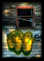 Grafitti Framed - HDR by RoastSpudz
