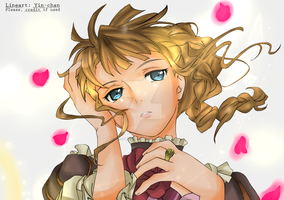 Beatrice Lineart color by AriaDragneel
