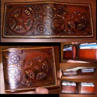 Steampunk Bi-fold Wallet by Steampunked-Out