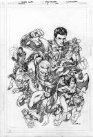 Legion Issue 5 cover pencils by Cinar