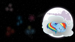Rainbow Dash Napping Wallpaper by AnEvilZebra