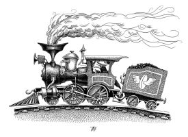 Locomotive (Inktober #10) by nik159