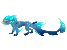 My Blue Water Dragon by ErisLeea