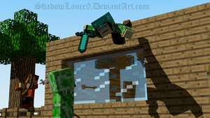 :MC: The Creeper Battle by ShadowLance9