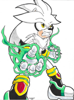*TIDES OF ARES*:  Silver the Hedgehog by Armpit-Warrior